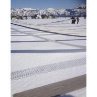 Kimonostoffer klargjøres for snø- og solbleking