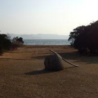 Utenfor Lee Ufan Museum, Naoshima
